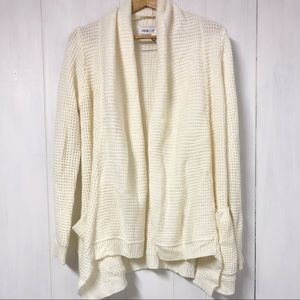 John + Jenn White Knit Long Cardigan/ Sweater